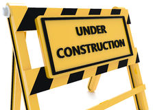 3D Under construction barricade Stock Photos