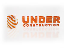 3D under construction sign Stock Photos