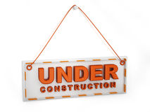 3D under construction sign Stock Photography