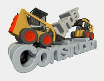 3d under construction sign Royalty Free Stock Photography