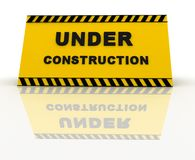 3D Under construction sign Royalty Free Stock Image