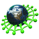 3d Unified for Green Earth Concept Royalty Free Stock Photo