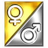 3D Unisex Sign Stock Photography