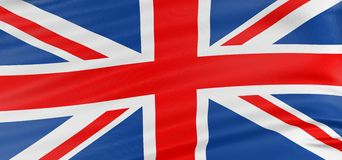 3D United Kingdom Flag stock illustration