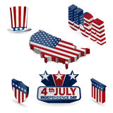 3d of the United States of America isolated Royalty Free Stock Image