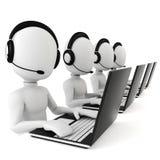 3d uomo - call center Fotografia Stock