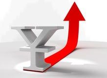 3D upvaluation van RMB Stock Foto's