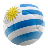3D Uruguay football Royalty Free Stock Photo