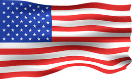 3D USA Flag Stock Photography