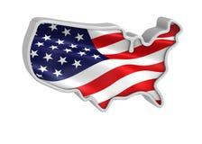 3D USA map Stock Image
