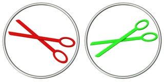 3d ustawiający ikona nożyce Zdjęcia Stock