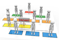 3d vacant position. 3d render of vacant position in the business organization Stock Photos