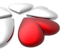3D valentijnskaartharten Royalty-vrije Stock Afbeelding