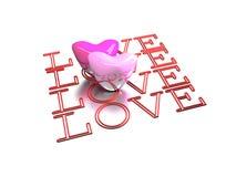 3d valentine card Royalty Free Stock Photos