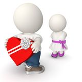 3D Valentine's day Royalty Free Stock Photos