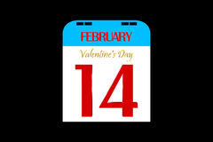 3D Valentine's Day. Calendar February 14 Valentine's Day royalty free illustration