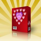 3d Valentine's Day box. For generics products Stock Photo