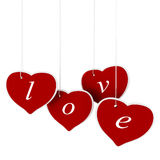 3d valentine's day hearts. On white background Stock Photo