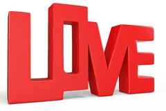 3d valentine's day love text Royalty Free Stock Images