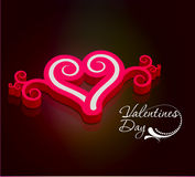 3d valentines day background Stock Photos