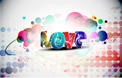 3d valentines day love design Stock Images