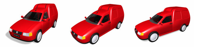 3D van illustrations Royalty Free Stock Photo