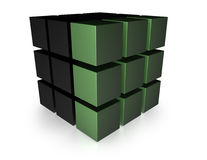3D Variation Cube Stock Photography