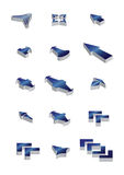 3d Vector arrow icons Stock Photography
