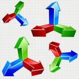 3D vector arrows. Royalty Free Stock Photography