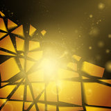 3d vector background. Abstract vector business golden background Royalty Free Stock Photography