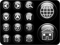 3D Vector Buttons Stock Images