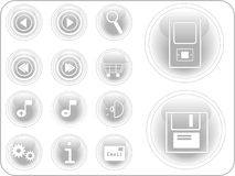 3D Vector Buttons Stock Photography