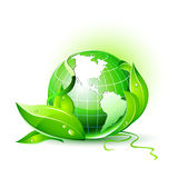 3D Vector Earth Globe Stock Images