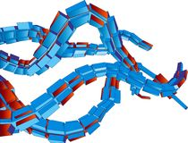 3D Vector Futuristische Tentakels Als achtergrond royalty-vrije illustratie