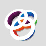 3d vector icon. Of circle shapes, vector illustration vector illustration