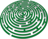 3d vector labyrinth stock illustration
