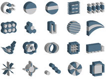 3d vector logos and elements. 3d vector illustrations of logos and elements Stock Image