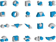 3d vector logos and elements. 3d vector illustrations of logos and elements Royalty Free Stock Image