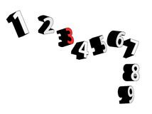 3D Vector Numbers. Concept, illustration Royalty Free Stock Image