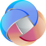 3D vector orb. Shiny orb ideal for logo Stock Photography