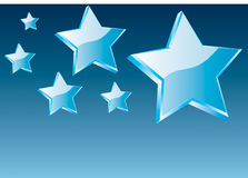 3d vector star and abstarct background Stock Photo