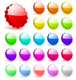 3D Vector Star Tags Stickers For Price Sale Special Offer Stars Tag Sticker Red Icon Symbol Sign Label Element Round Shape Design Royalty Free Stock Photo