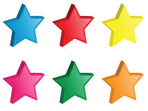 3d vector stars. Vector illustration of 3d stars Stock Images