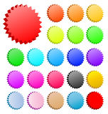 3D vector stars set. 3D vector star badges collection. Perfect for icons or text Stock Photos