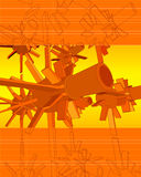 3D Vector Techno Turbines. 3d vector abstract background. An AI, layered file is included for easier editing Stock Photo