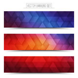 3d Vector Technology Web Banners Stock Image