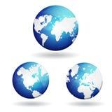 3d VectorPictogram van de Kaart van de Bol van de Wereld Stock Fotografie