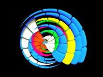 3D - Veelkleurige funky shell royalty-vrije illustratie