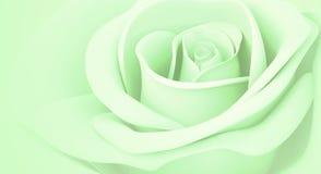 3D verde claro se levantó Foto de archivo libre de regalías