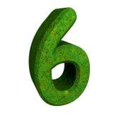 3d verde do número 6 ilustração royalty free